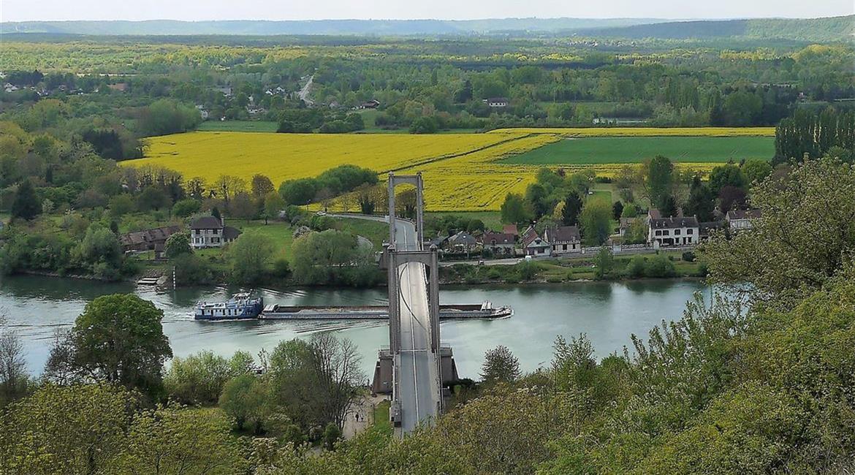 Pont des Andelys depuis le Château Gaillard